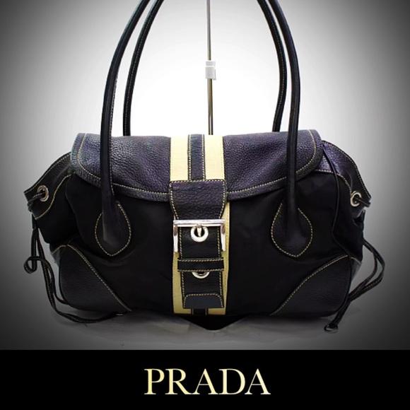 87ed7991af6 Prada Pattina Tessuto Vitello Daino Shoulder Bag. M_5b8c4fa7800deeb0a54cfe08